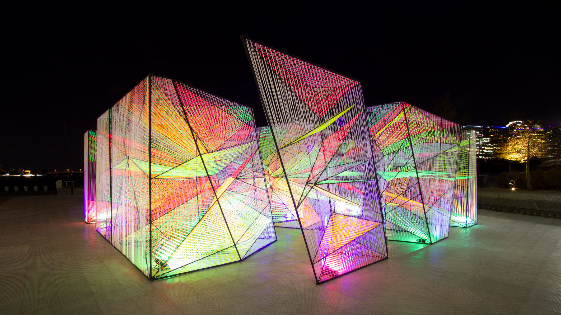 Hou De Sousa Designs Fluorescent Prismatic Installation